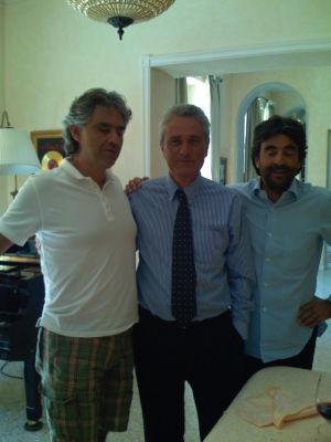 Andrea Bocelli, Francesco Rutelli E Virginio Fedeli