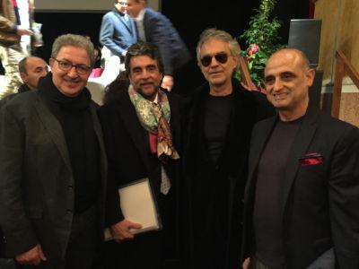 Paolo Marchetti, Andrea Bocelli, Virgibio Fedeli E Paolo Paoletti