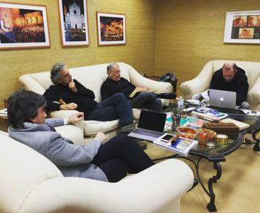 Virginio Fedeli, Andrea Bocelli, Zubin Metha e Andrea Taglia