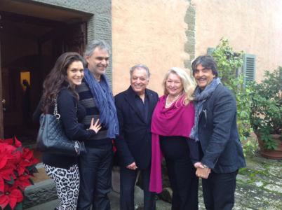 Verona Berti, Andrea Bocelli, Zubin Metha, Nancy Kovack E Virginio Fedeli