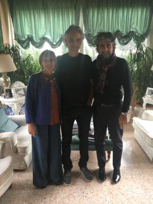 Rosanna Purchia, Andrea Bocelli e Virginio Fedeli